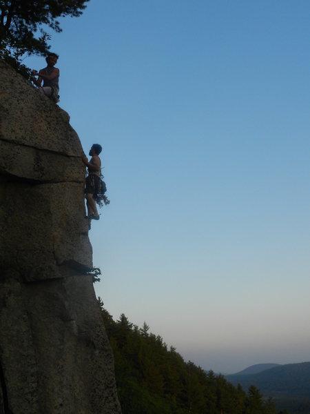 Rock Climbing Photo: Jonathan Garlough belaying Lincoln Tetherly on The...