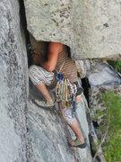 Rock Climbing Photo: The no hands rest!