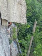 Rock Climbing Photo: The roof traverse