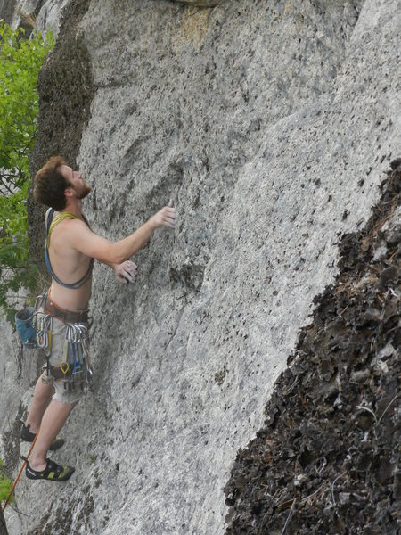 Rock Climbing Photo: Lincoln Tetherly on the FA of Chenoo
