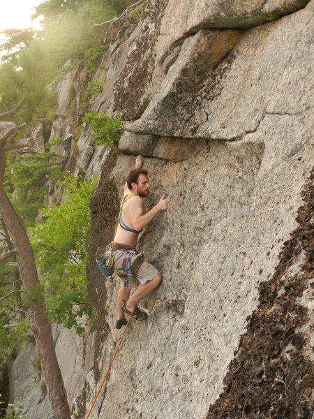 Rock Climbing Photo: Lincoln Tetherly on the FA of Chenoo.