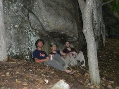 Rock Climbing Photo: Chinos Mountain Club members Jonathan Garlough, Ja...
