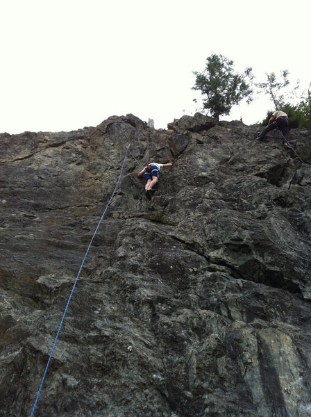 My buddy Seth's first time climbing.