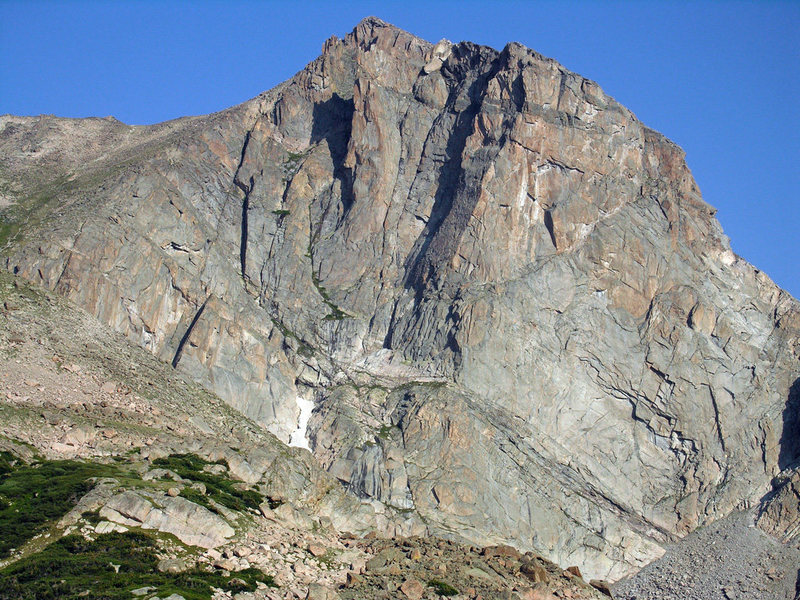 Rock Climbing Photo: Great beta shot of the east face, taken on a summi...