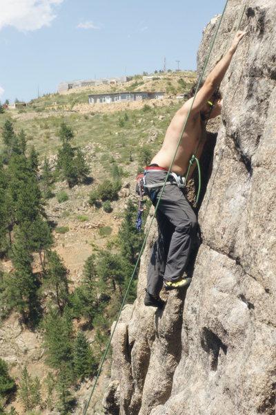 John climbing Wet Dreams on TR.