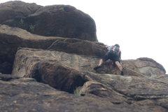 Rock Climbing Photo: Ryan up near the top.