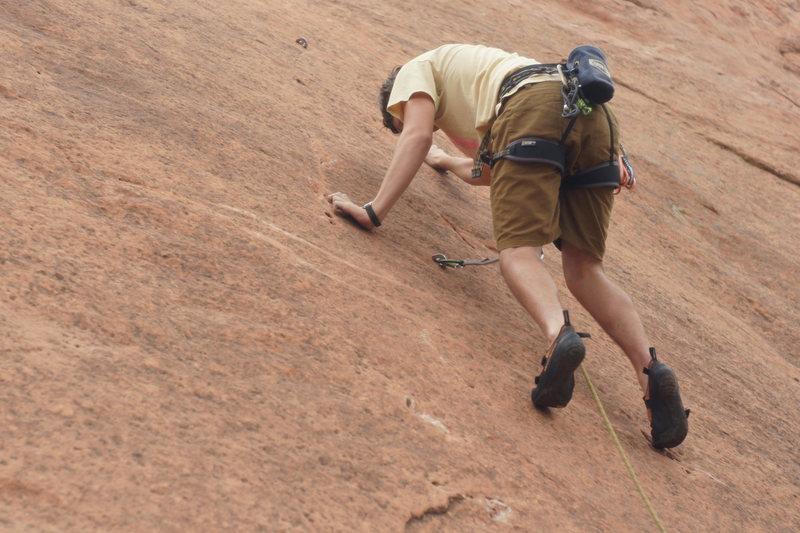 Rock Climbing Photo: Ryan and the namesake pockets on Monosmear.