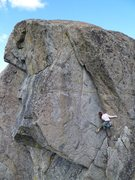 Rock Climbing Photo: Scoping the start of the business: the top 1/3 of ...