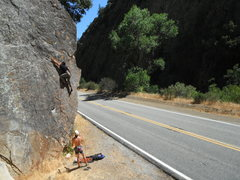Rock Climbing Photo: Mark Collar on Glory Days 5.11