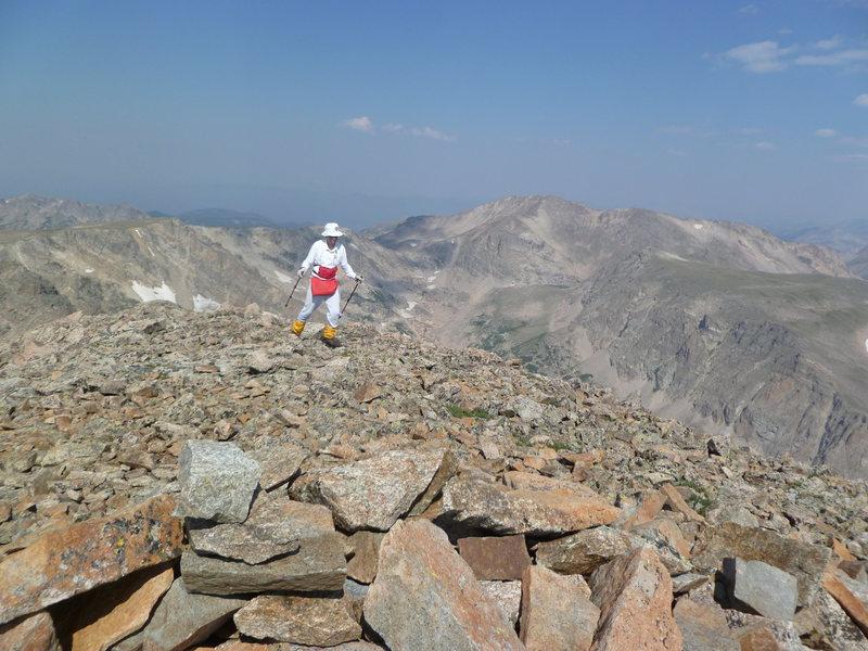 Nearing summit of Copeland Mtn.