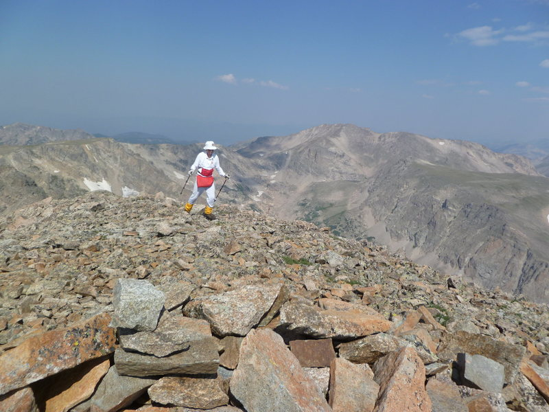 Rock Climbing Photo: Nearing summit of Copeland Mtn.