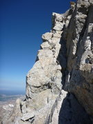 """Rock Climbing Photo: blending in on the """"v"""" pitch of upper Ex..."""