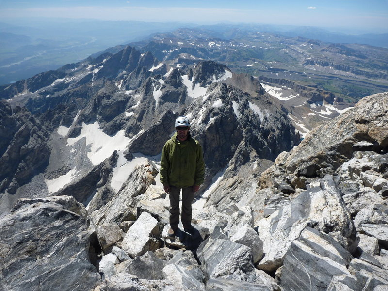 Scott on the summit of the Grand