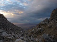 Rock Climbing Photo: Early morning rain moving in....just in time for t...