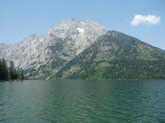 Rock Climbing Photo: Mount Moran from Leigh Lake