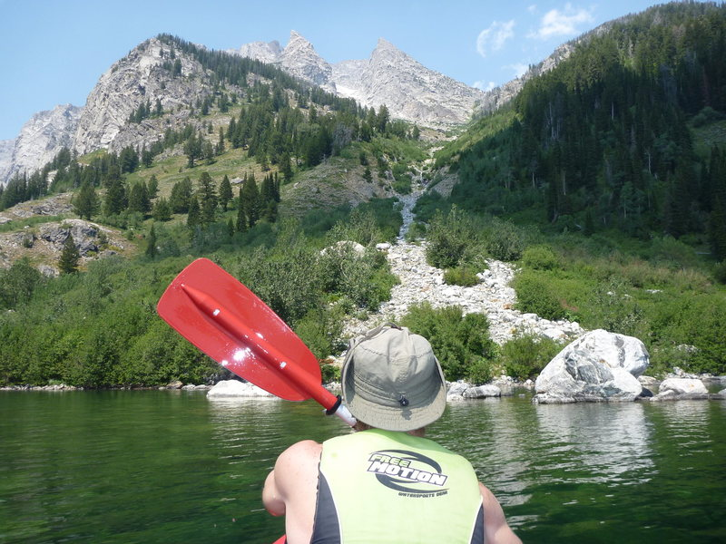 Closing in on the takeout after zig zagging across the lakes. We are climbers not boaters!