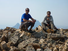 Rock Climbing Photo: Summit of Moran with the Grand behind us