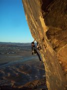 Rock Climbing Photo: halfway up the route, the hard climbing starts aft...