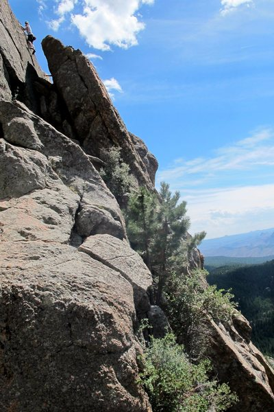 Kristin Knudson on Finger Lickin' Good.  Ironically, this route removed her finger tips.  Watch for sharp crystals.