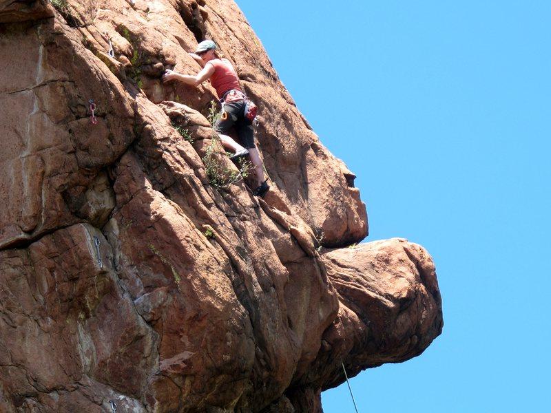 Rock Climbing Photo: Kristin Knudson on Paper (5.10c).  Photo by José ...