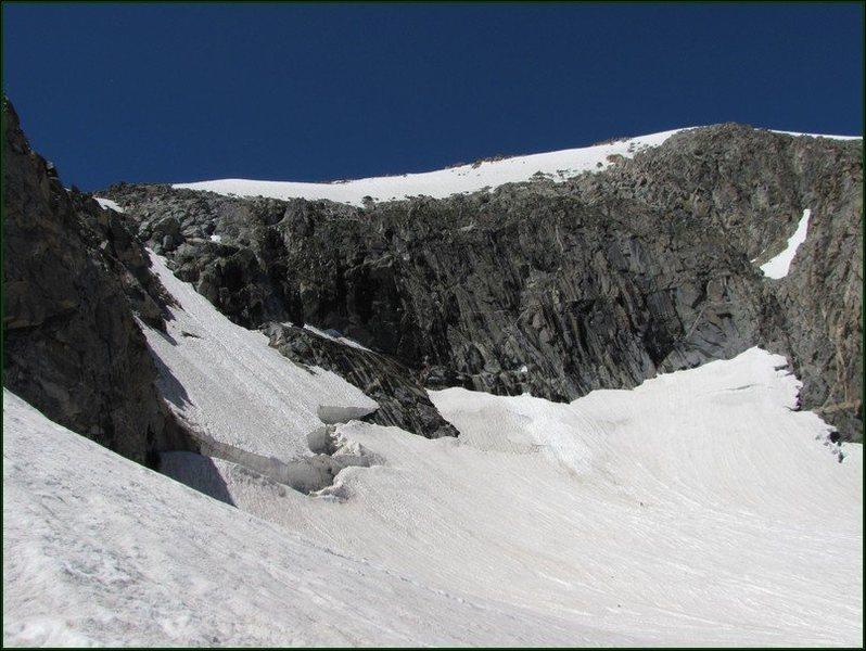 The open bergschrund.