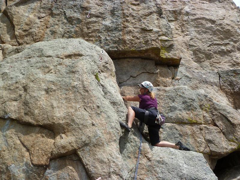 "Rock Climbing Photo: Interesting ""knee"" style."