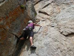 Rock Climbing Photo: Climbing the crack.