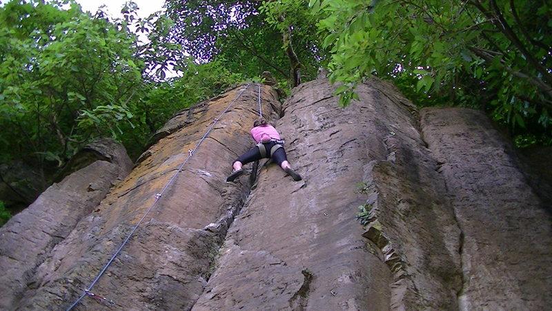 Rock Climbing Photo: Lani Wilson at the crux.
