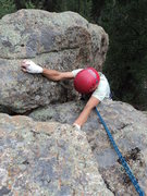 Rock Climbing Photo: Topping out the right finish for Shroom Groove, P1...