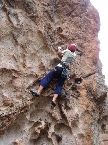 Rock Climbing Photo: The huecos look more interesting than they climb. ...