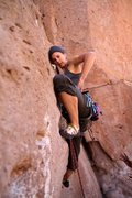 Rock Climbing Photo: Summer Hess taking on the start; in Chile