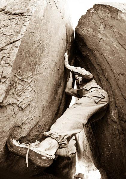 Matt on something Vhard.  Big Bend, Moab