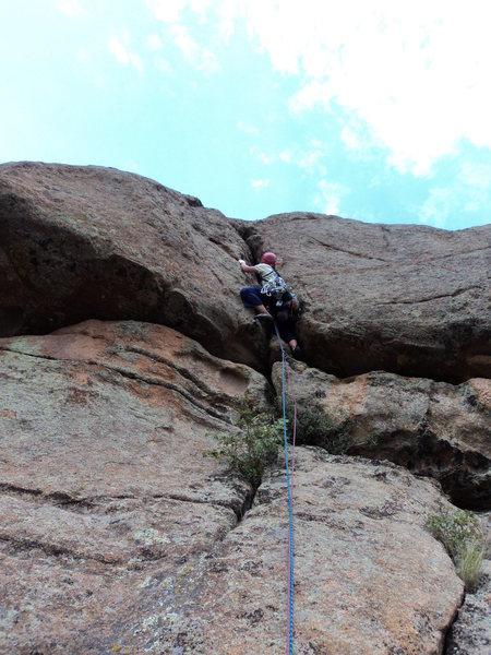 Rock Climbing Photo: Deb on P3.