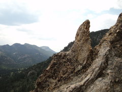 Rock Climbing Photo: Interesting feature near the P1 belay.
