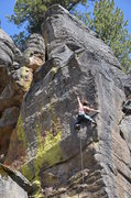 Rock Climbing Photo: Matt on Chubby Hubby .12a
