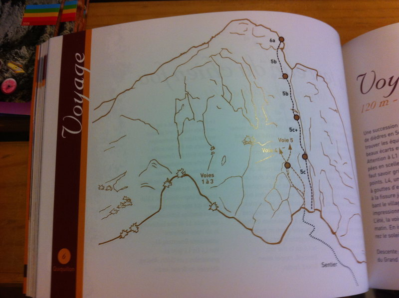 Picture of a topo from the guide