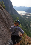 Rock Climbing Photo: looking toward the Sound from top of pitch 2 or 3