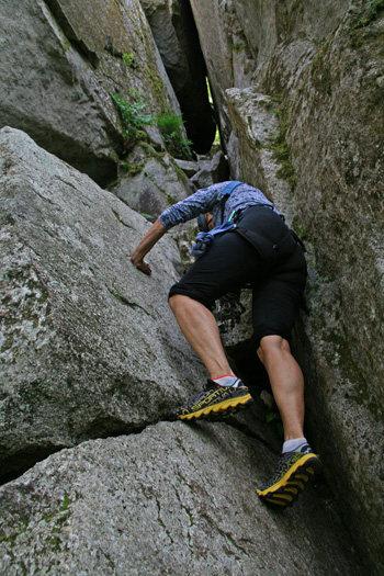 Rock Climbing Photo: The descent chimney