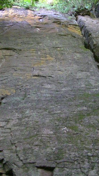 Rock Climbing Photo: The U bolts can be seen going straight up the midd...