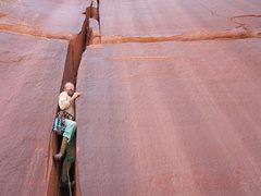 Rock Climbing Photo: Alf, Baby Blue, Technicolor Wall.