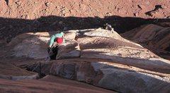 Rock Climbing Photo: Lightning Bolt Cracks, North Six Shooter.