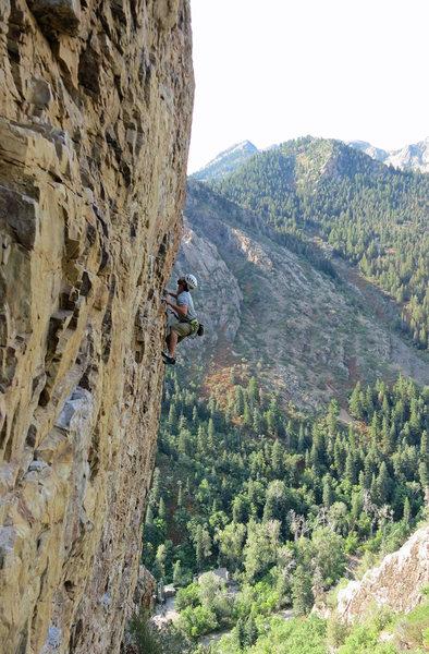 Rock Climbing Photo: Jon Scoville enjoying the summer morning.