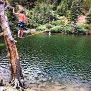 Slackline over the lake.