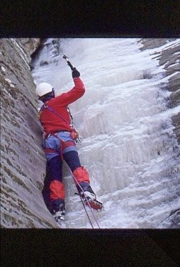 "Rock Climbing Photo: ""Blue Carbuncle"" WI3 Jackson Falls, SoIl"