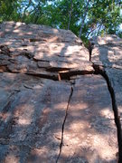 Rock Climbing Photo: The left crack is route