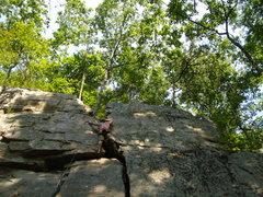 Rock Climbing Photo: got it