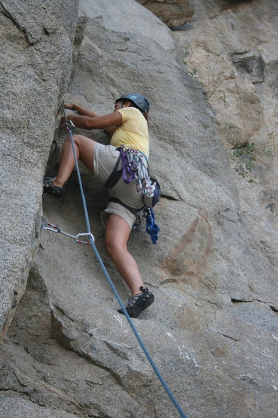 Rock Climbing Photo: Agina Sedler at the crux section.