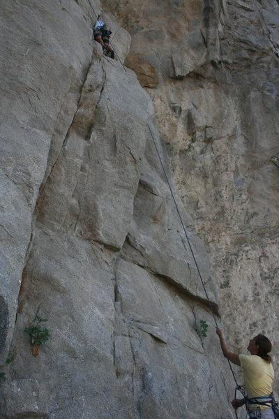 Rock Climbing Photo: Albert Ramirez belayed by Agina Sedler.