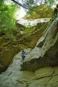 Rock Climbing Photo: Wall before the creek