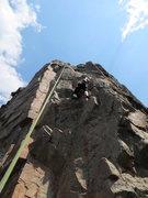 Rock Climbing Photo: Climbing on TR - Aug. 12, 2012.